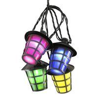 KONSTSMIDE lyskæde med lanterner og 20 lamper flerfarvet