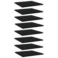 vidaXL boghylder 8 stk. 40x40x1,5 cm spånplade sort