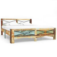 vidaXL sengestel 140x200 cm massivt genbrugstræ