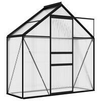 vidaXL drivhus 1,33 m² aluminium antracitgrå