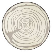 Esschert Design udendørstæppe 170 cm diameter årringe