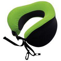 Travelsafe foldbar nakkepude med memoryskum grøn og sort