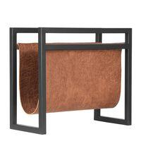 LABEL51 magasinholder 45x20x38 cm cognacfarvet