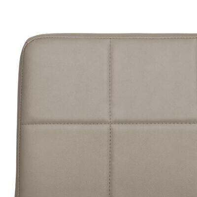 vidaXL spisebordsstole 4 stk. kunstlæder cappuccinofarvet