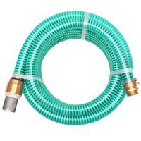 vidaXL sugeslange med messingstik 10 m 25 mm grøn