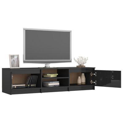 vidaXL tv-skab 140x40x35,5 cm spånplade sort højglans