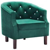 vidaXL lænestol fløjl grøn