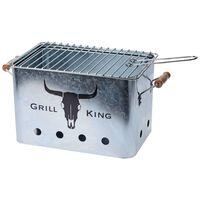 ProGarden grill med trægreb zink