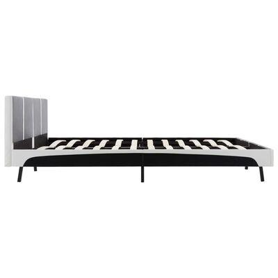 vidaXL seng med madras i memoryskum kunstlæder 160 x 200 cm