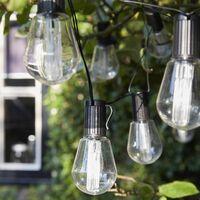 Luxform Alicante soldrevne festlys med 10 LED-lamper transparent