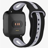 Fitbit Versa armbånd silikone - sort / grå