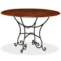 vidaXL spisebord i massivt akacietræ med sheesham-finish 120 x 76 cm