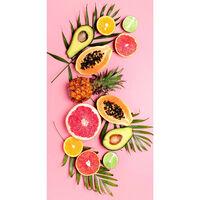 Good Morning badehåndklæde PINK FRUITS 75x150 cm pink