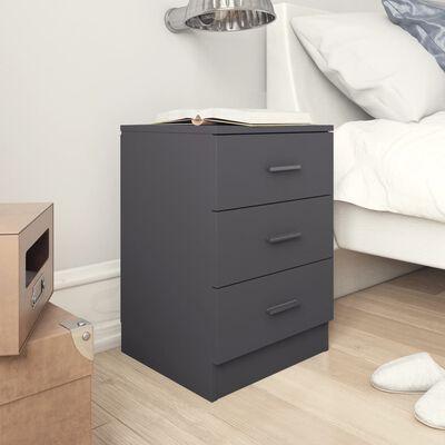 vidaXL sengeskabe 2 stk. 38 x 35 x 56 cm spånplade grå