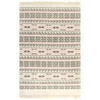 vidaXL kilim-tæppe med mønster bomuld 160 x 230 cm grå/pink
