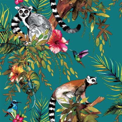 DUTCH WALLCOVERINGS tapet lemur grøn 12402