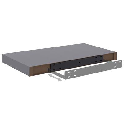 vidaXL svævehylde 50x23x3,8 cm MDF grå