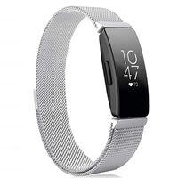 Fitbit Inspire / Inspire HR armbånd Milanese Loop sølv - S