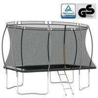 vidaXL trampolinsæt 335x244x90 cm rektangulær 150 kg