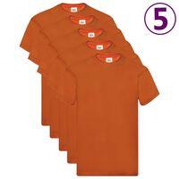 Fruit of the Loom originale T-shirts 5 stk. str. L bomuld orange