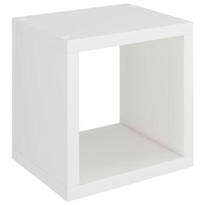 vidaXL væghylde 37x29,5x37 cm kubeformet MDF hvid