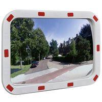 vidaXL konvekst trafikspejl rektangulært 40x60 cm med reflekser