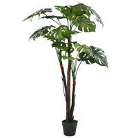 vidaXL kunstig monstera-plante med krukke 130 cm grøn