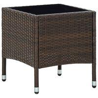 vidaXL havebord 40x40x45 cm polyrattan brun