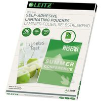 Leitz selvklæbende lamineringslommer A4 100 stk.