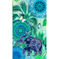 HIP badehåndklæde ISARA 100x180 cm blå og grøn