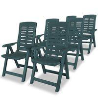 vidaXL havelænestole 6 stk. plastik grøn