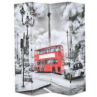 vidaXL foldbar rumdeler 160 x 170 cm London bus sort og hvid
