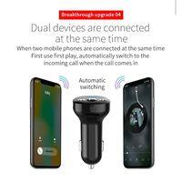 FM-sender til bilen, Bluetooth - Sort