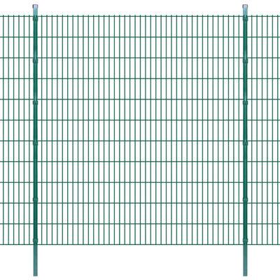 vidaXL 2D Havehegnspaneler & Pæle 2008x2230 mm 24 m Grøn