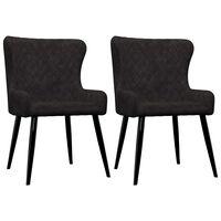 vidaXL spisebordsstole 2 stk. fløjl sort