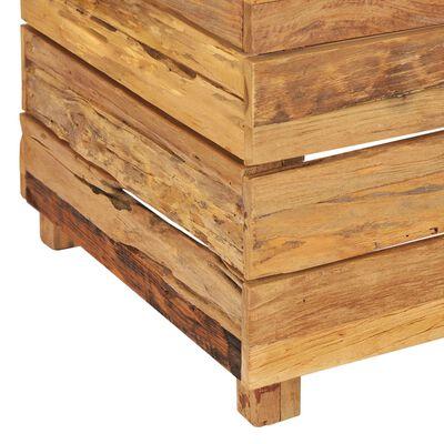 vidaXL hævet plantekasse 50x40x55 cm genanvendt teaktræ og stål