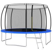 vidaXL trampolinsæt rund 366x80 cm 150 kg