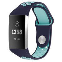 Fitbit Charge 3 armbånd i silikone marineblå / turkis - S