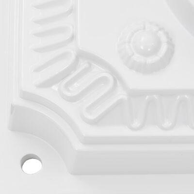 vidaXL postkasse med piedestal aluminium vintagestil rustbestandig hvid