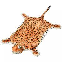 vidaXL leopardtæppe i plys 139 cm brun