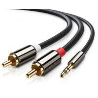 3,5 mm til 2x RCA stereolydkabel - 2 m