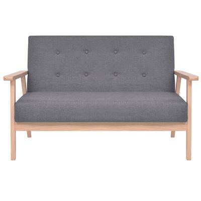 vidaXL 2-personers sofa i stof mørkegrå