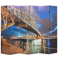 vidaXL foldbar rumdeler 228 x 170 cm Sydney Harbour Bridge