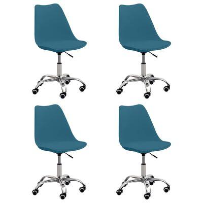 vidaXL spisebordsstole 4 stk. kunstlæder turkis