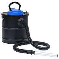 vidaXL askestøvsuger med HEPA-filter 1200 W 20 l stål