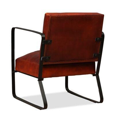 vidaXL loungestol ægte læder brun