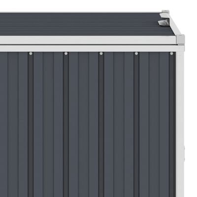 vidaXL firdobbelt skraldespandsskur 286x81x121 cm stål antracitgrå