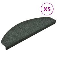 vidaXL selvklæbende trappemåtter 5 stk. 65x21x4 cm tuftet grøn