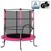 vidaXL trampolin med sikkerhedsnet 140x160 cm rund pink