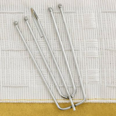 vidaXL mørklægningsgardiner med kroge 2 stk. hør-look 140x175 cm gul